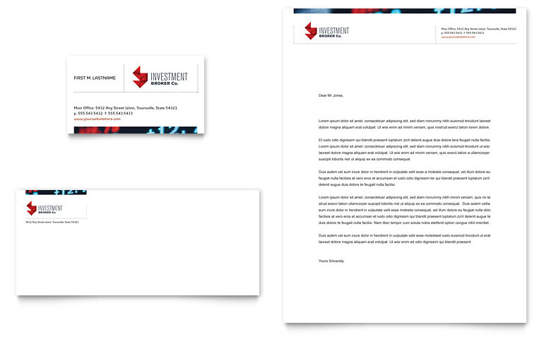 Banking Letterhead Templates Word & Publisher