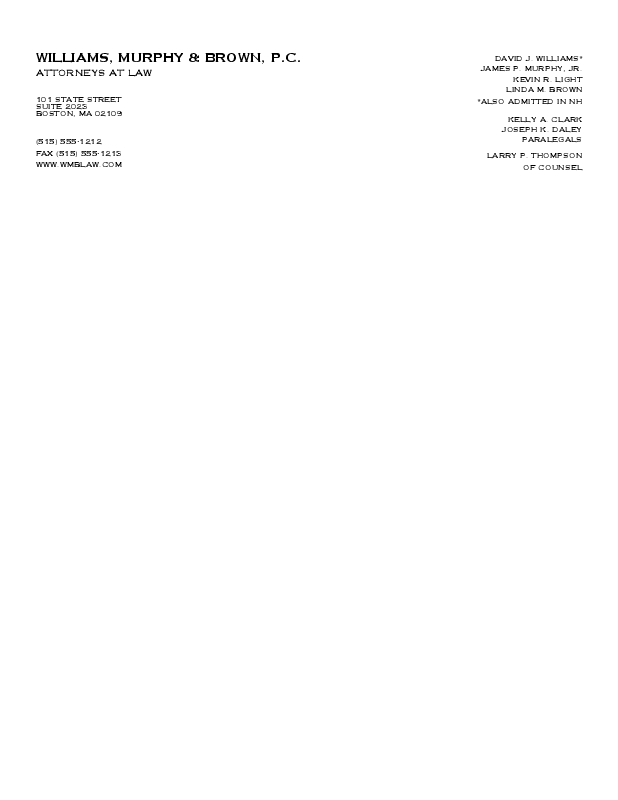 Personalized Stationery: Raised Company Letterhead