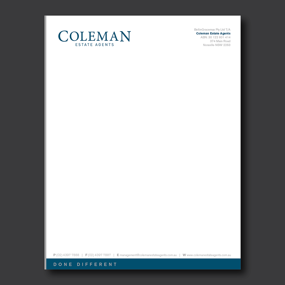 Business Letterhead: Free Printable Letterhead