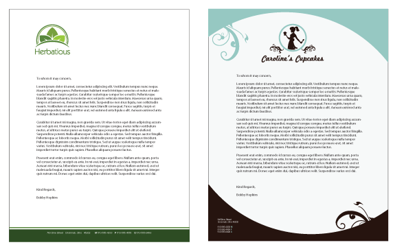 business letterhead example