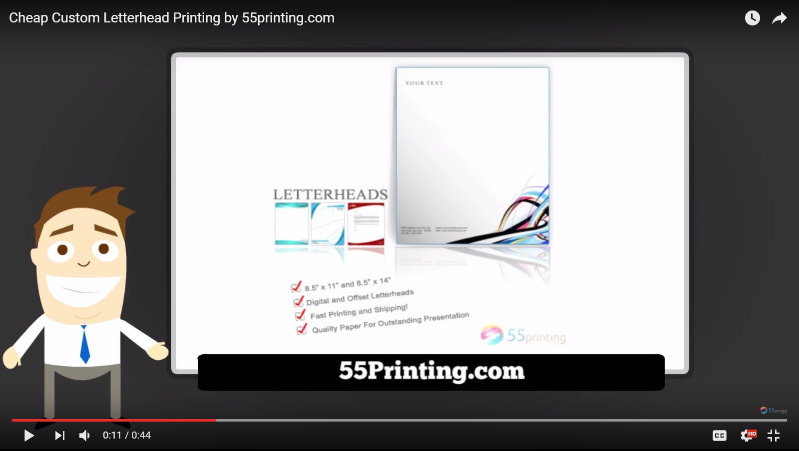 Cheap Custom Letterhead Printing by 55printing. YouTube