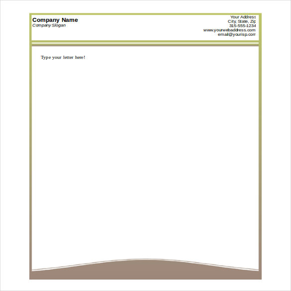button template for word - company letterhead format in word format free printable