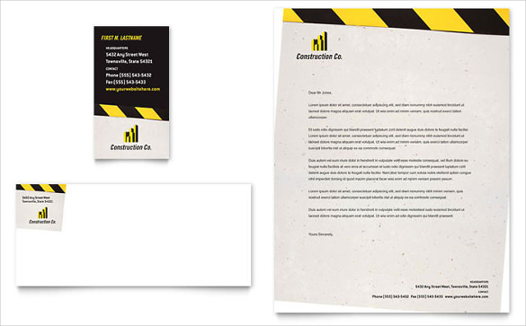 10+ Construction Company Letterhead Templates Free Sample
