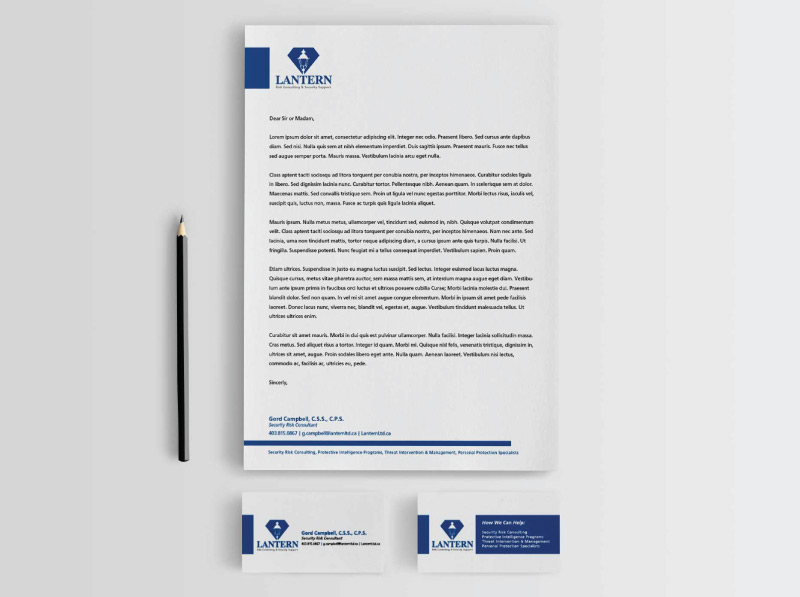 Corporate Letterhead and Stationery Design Digital Lion