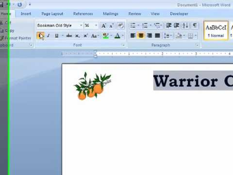 Word How to Create Letterhead in a Word Document YouTube