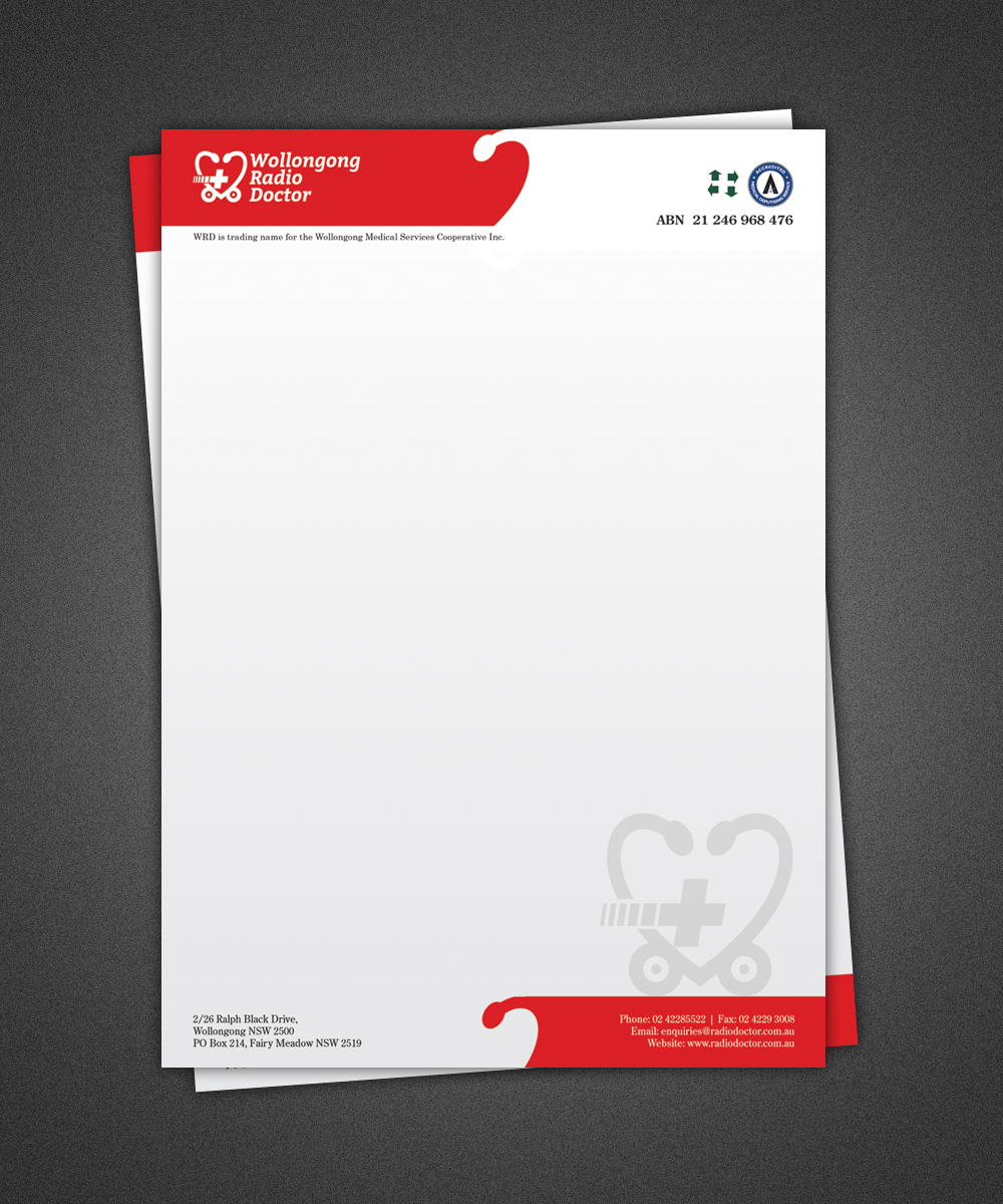 Letterhead Design for Wollongong Radio Doctor by Deep | Design