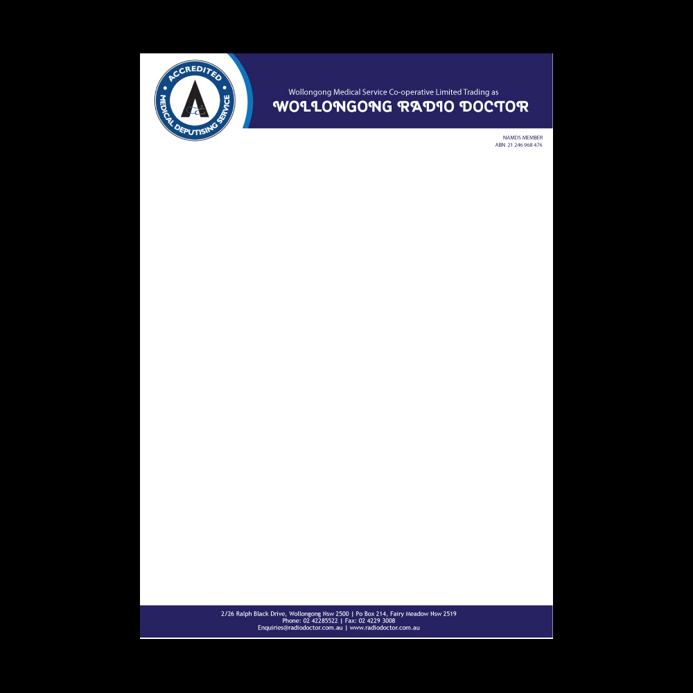 Family Doctor Business Card & Letterhead Template Design