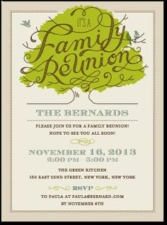 Wanted Family Reunion Invitations. Easy to customize