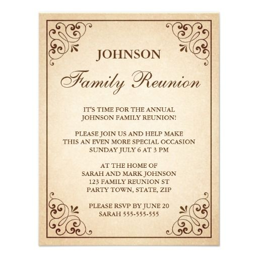 The 25+ best Family Reunion Invitations ideas on Pinterest