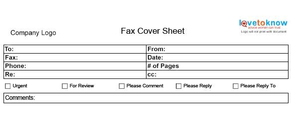 Basic Fax Cover Sheet OpenOffice template