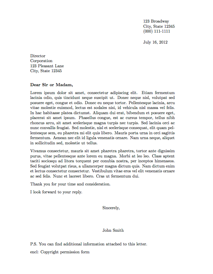 Formal Letter Template | thin formal letter this formal letter
