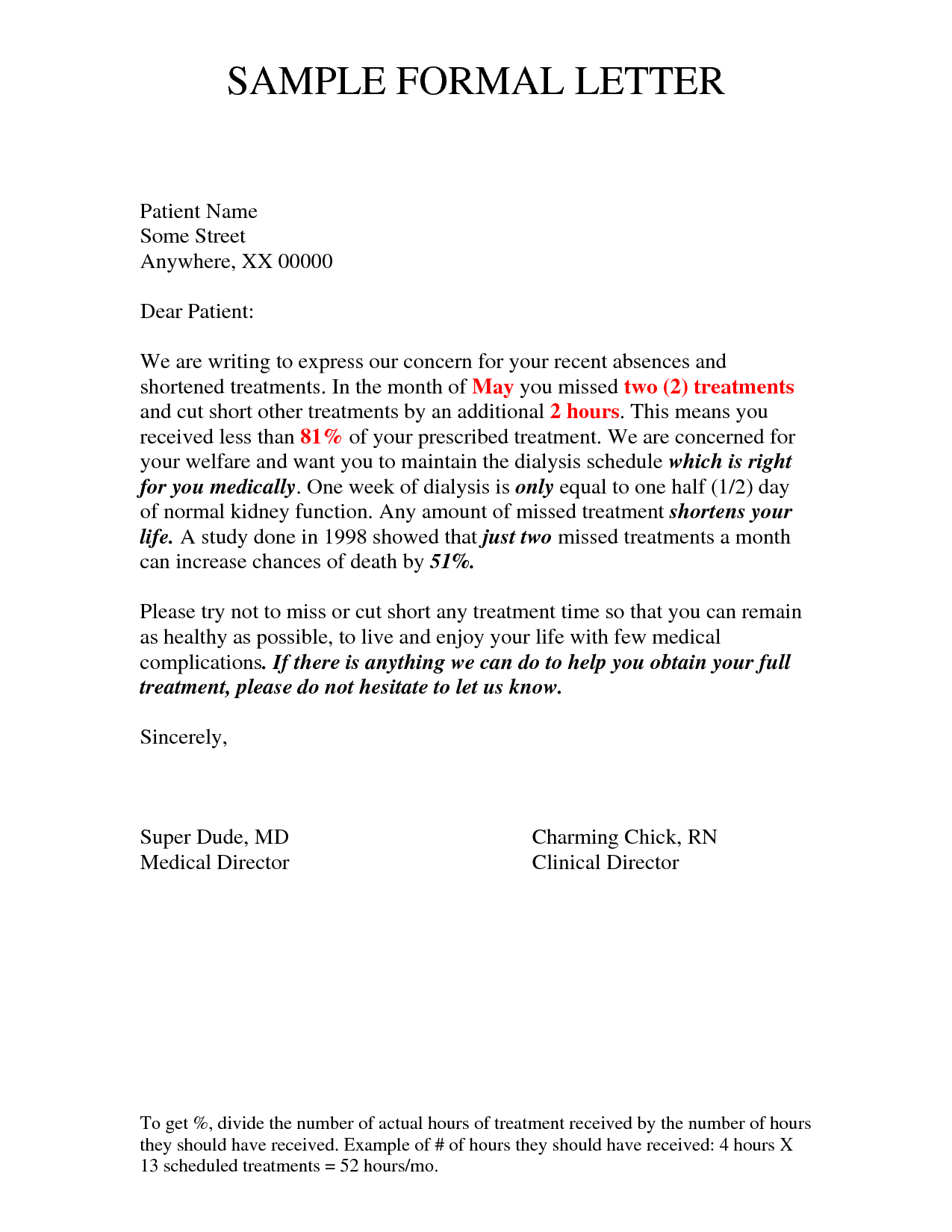 Formal Letter Example | formal letter template