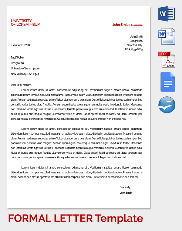 Doc.#529684: Professional Business Letter Template Word – Business