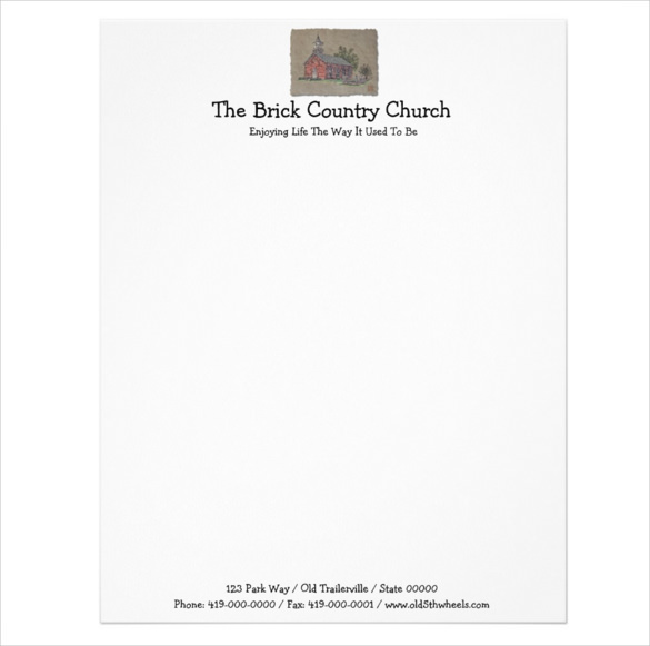 11+ Church Letterhead Templates – Free Sample, Example Format