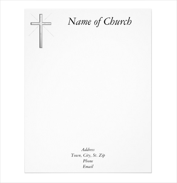 11+ Church Letterhead Templates U2013 Free Sample, Example Format  Free Printable Letterhead Templates