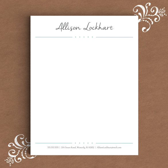 Free Personal Letterhead Templates Word