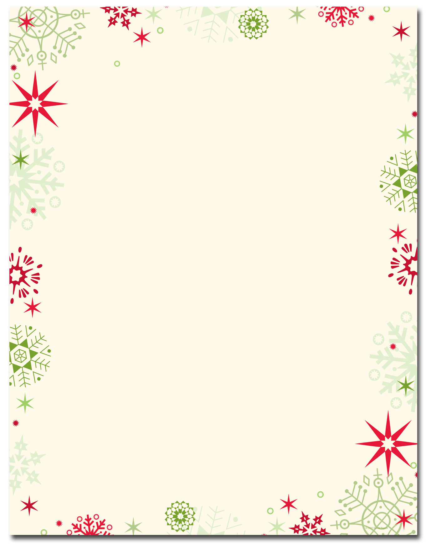 Red & Green Flakes Letterhead | Holiday Papers | Pinterest | Red