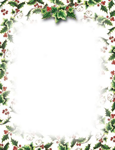 Christmas Letterhead Geographics Holly Ivy|Holiday Stationery
