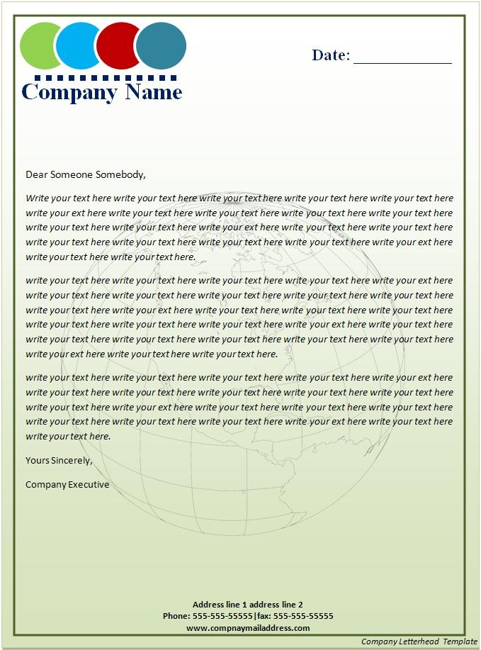 how to make a company letterhead