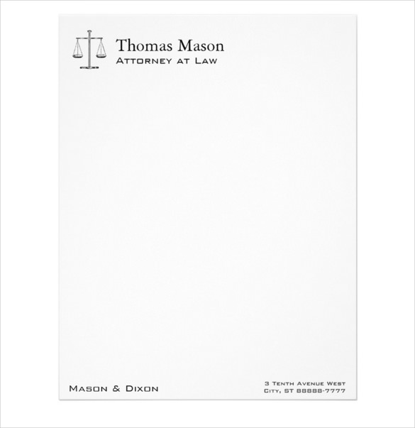 10+ Legal Letterhead Templates – Free Sample, Example Format