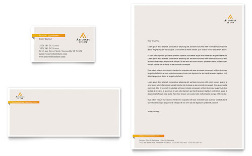 Legal Letterhead Templates Word & Publisher