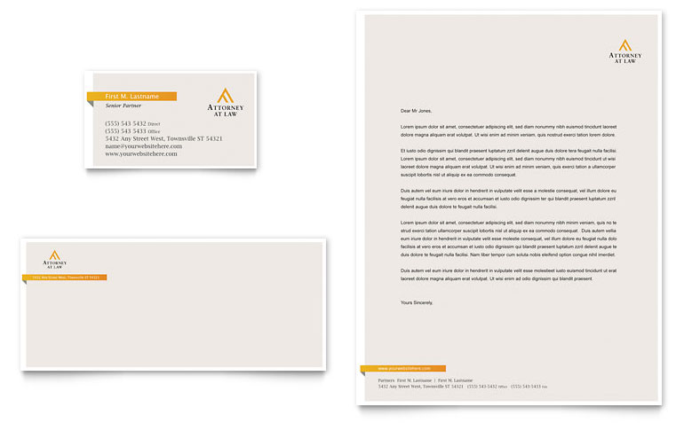 Law Firm Letterhead Templates Word & Publisher