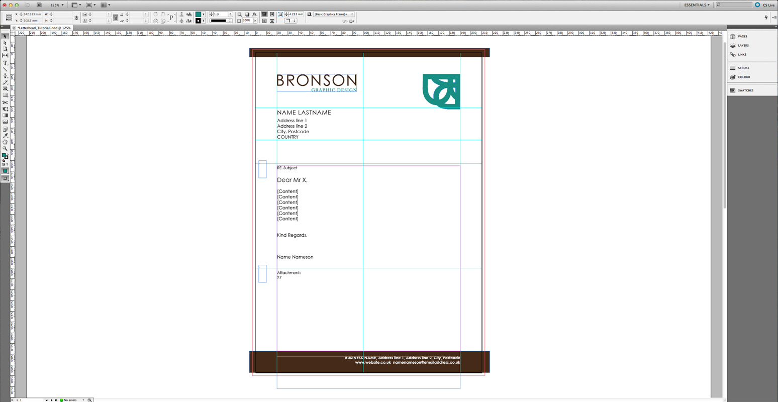 Tutorial: Appealing and correct Letterhead layout