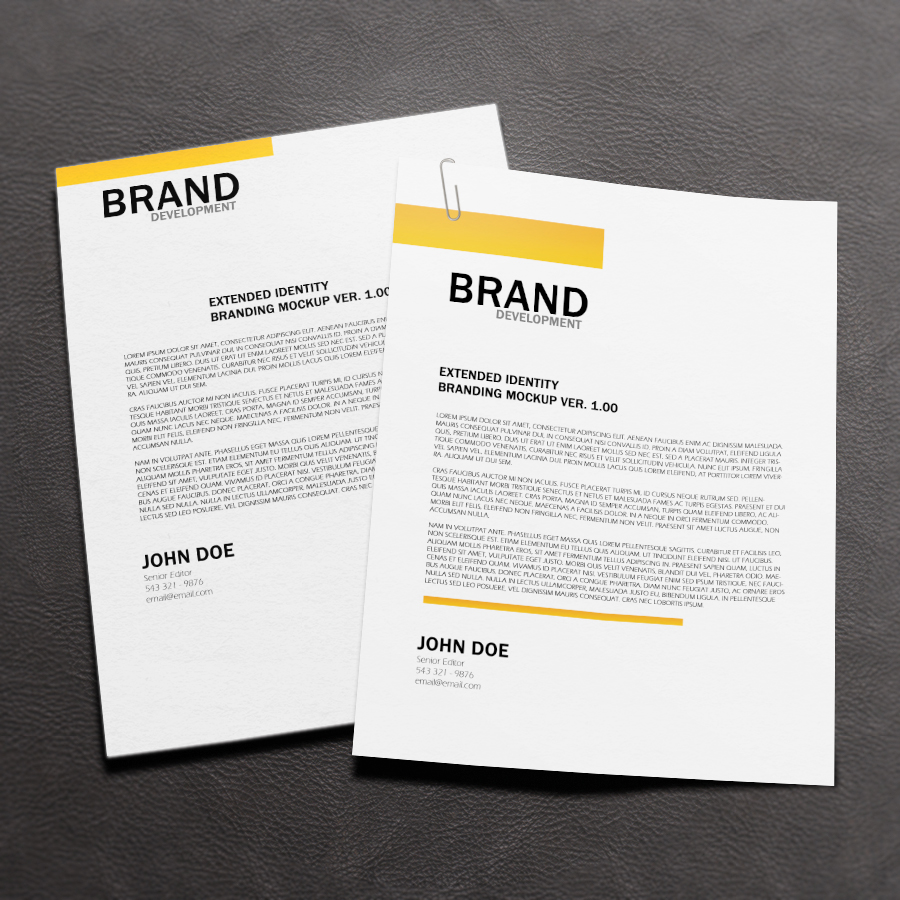 Free Letterhead Mock up | Resources | Pinterest | Letterhead and