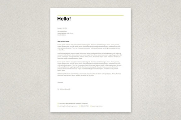 Letterhead Template Free small, medium and large images