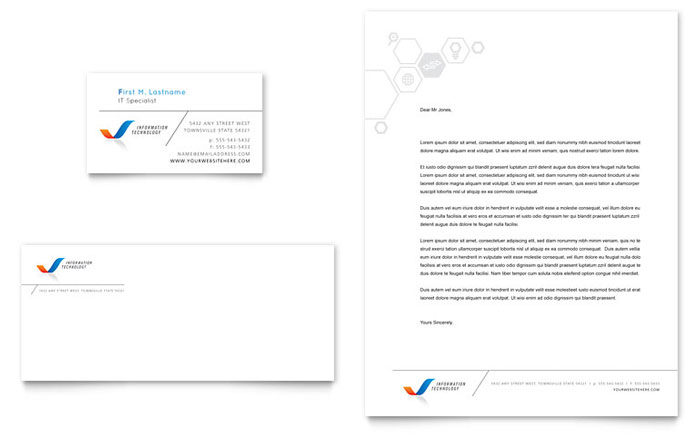 Business Company Letterhead Template Free small, medium and