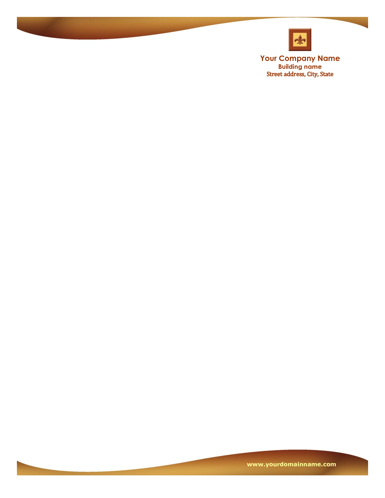 Free Sample Letterhead Templates Word Publisher Microsoft Word