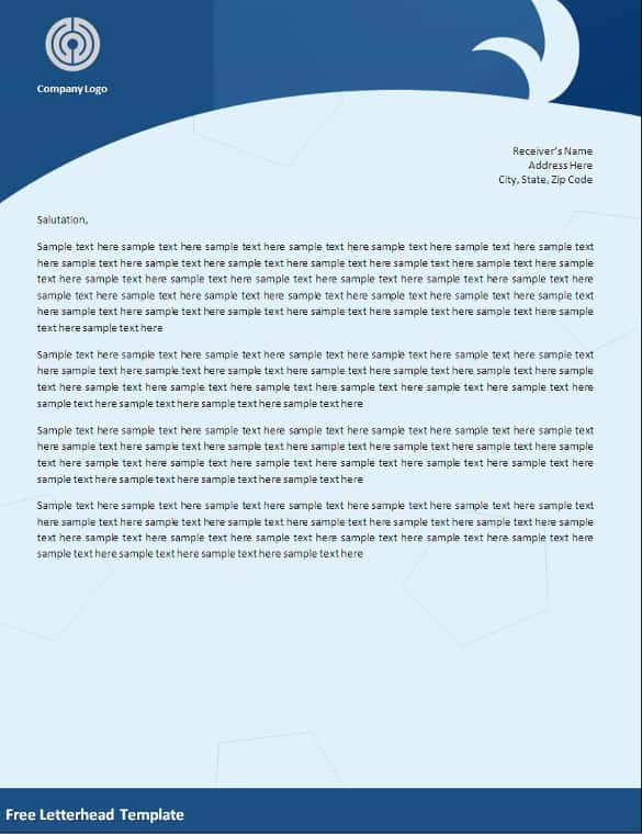 free letterhead templates doc akba greenw co