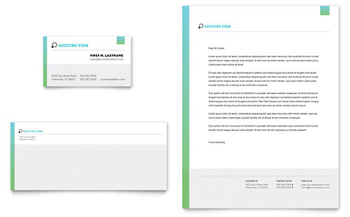 Letterhead Templates InDesign, Illustrator, Publisher, Word