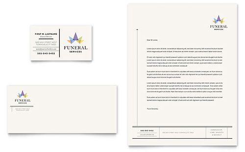 Download file (Letterhead template InDesign for print) Akademika