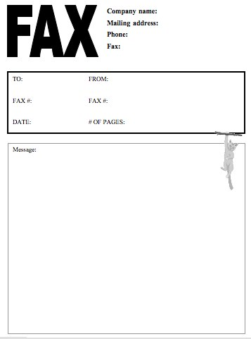 12 Free Fax Cover Sheet For Microsoft Office, Google Docs, & Adobe PDF