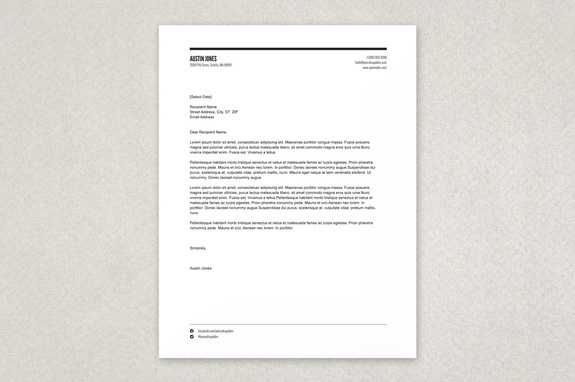 Modern Versatile Letterhead Template A clean yet stylized