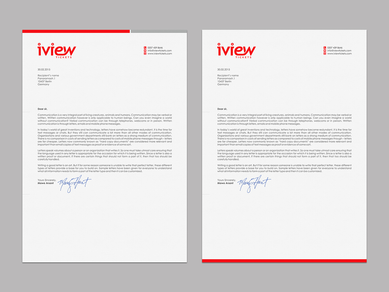 Professional, Modern Letterhead Design by logodentity | Design