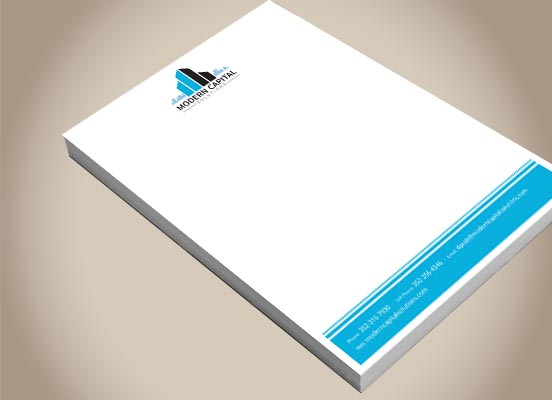 Modern Capital Solutions Letterhead Design Commercial Capital