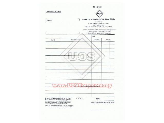 Printing Services: Customized Bill Books with Company Letterhead