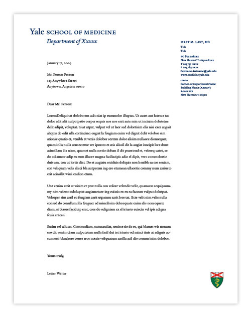 Letterhead > Office of Communications | Yale School of Medicine
