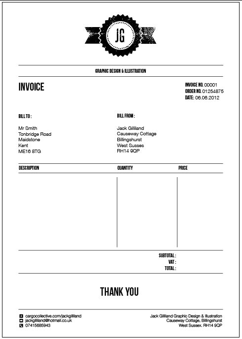 Final Designs for Invoice, letterhead and purchase order | Career