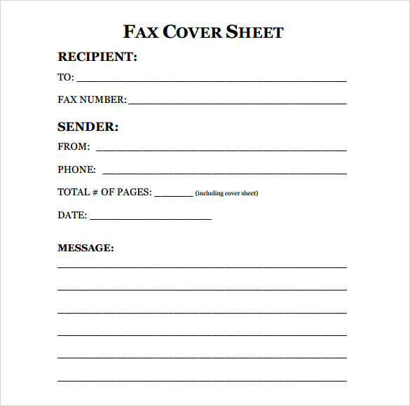 Cover Fax Letter Head  Fax Cover Sheet In Word