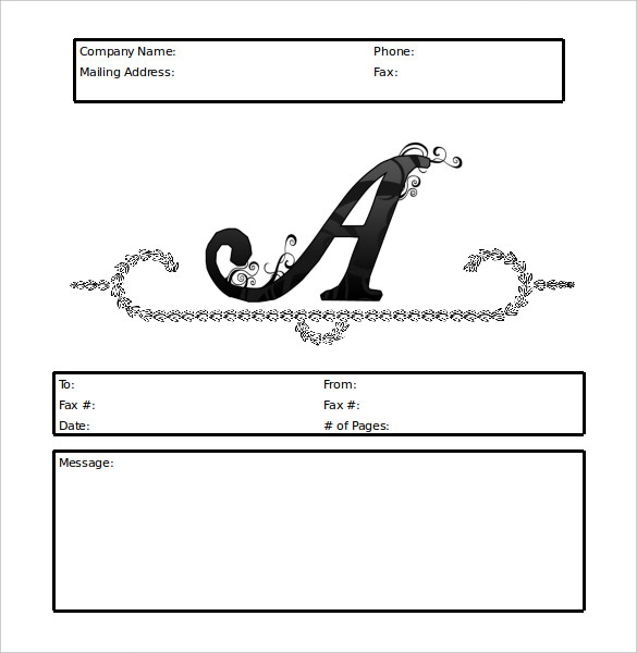 Fax Cover Sheet Template Printable Fax Cover Page Sample in PDF