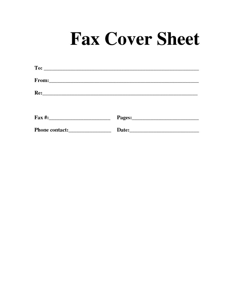 Fax Cover Sheet Pages Idea