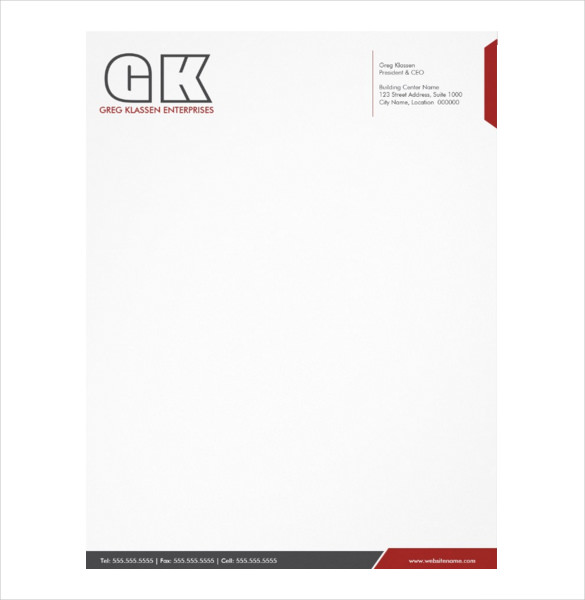 Free Letterhead Templates and Free Letterhead Samples
