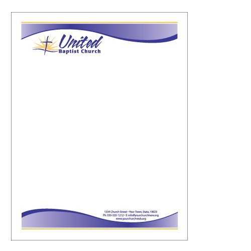 Sample church letterhead free printable letterhead for Free letterhead templates with logo