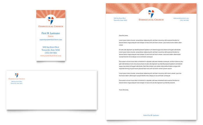 Religious & Organizations Letterheads | Templates & Designs