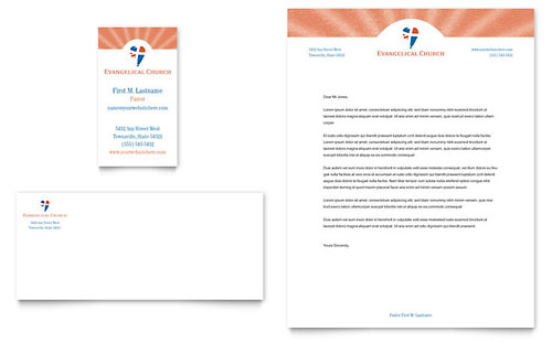 Church Letterhead Templates Word & Publisher