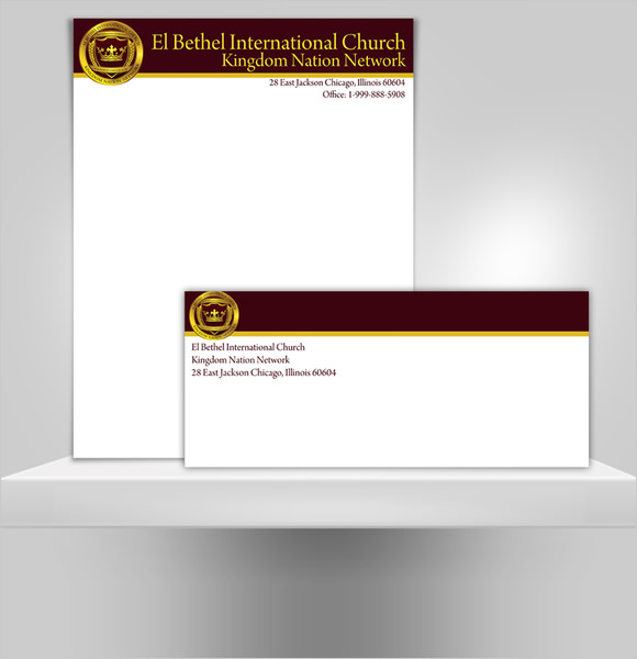 Sample church letterhead free printable letterhead sample church letterhead spiritdancerdesigns Choice Image