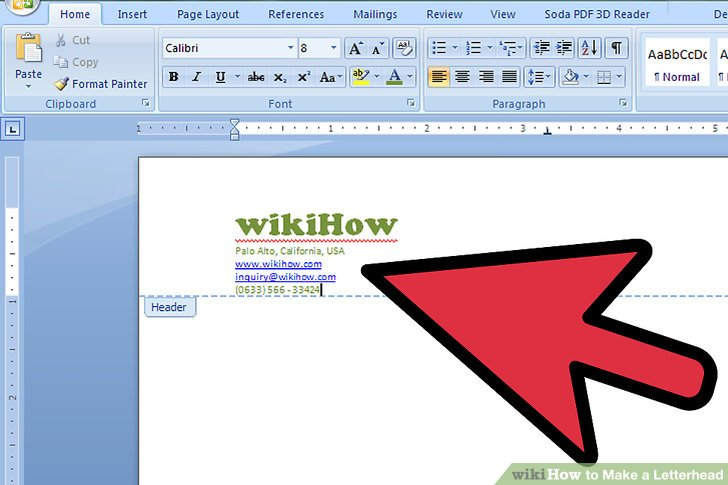 How to Make a Letterhead (with Pictures) wikiHow